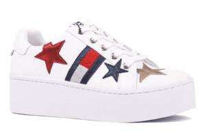 Bílé tenisky Tommy Jeans Icon Sparkle Sneaker